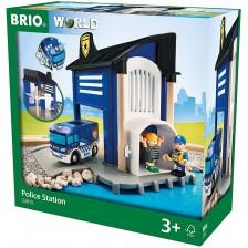 Сглобяема играчка Brio World - Полицейски участък, 6 части -1
