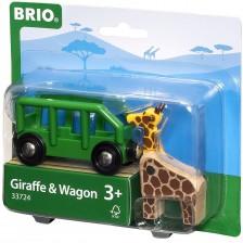 ЖП аксесоар Brio - Вагон с жираф -1