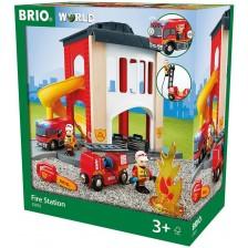 Комлект Brio World - Пожарна станция с аксесоари, 12 части -1