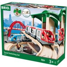 Комплект Brio - Влак с релси и аксесоари, Travel Switching, 42 части -1