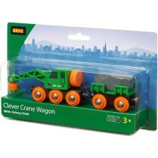 Товарен кран с вагон Brio - Clever -1