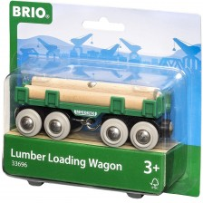 ЖП аксесоар Brio - Вагон за дървен материал -1