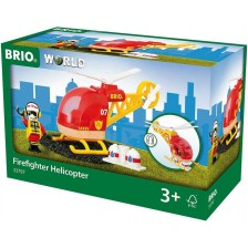 Играчка Brio World - Пожарен хеликоптер -1