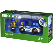 Играчка Brio World - Полицейски ван -1