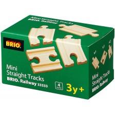 ЖП аксесоар Brio - Мини релси, прави, 4 броя -1