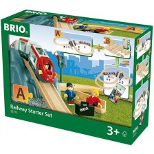 Комплект Brio - Влак с релси и аксесоари, стартов комплект, 26 части -1