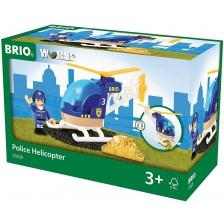 Играчка Brio World - Полицейски хеликоптер -1