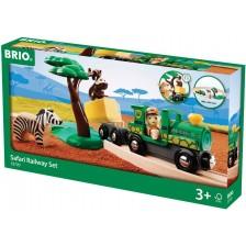 Комплект Brio - Влак с релси и аксесоари, Safari, 17 части -1