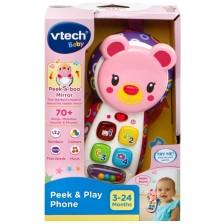 Детска играчка Vtech - Телефон розово меченце -1