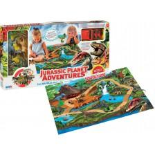 3D Килимче за игра RS Toys Jurassic Planet - Динозаври и джип -1