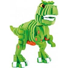 3D Пъзел Toi Toys - Т-Рекс, от пенокартон, 104 части -1