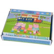Дървени кубчета Eichhorn - Peppa Pig, 12 части,Асортимент -1