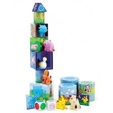 Образователна игра с кубчета и животни Djeco - Луданимо -1