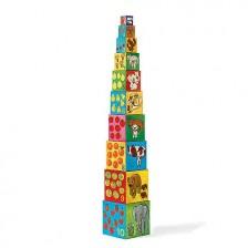 Пирамида от кубчета Djeco - Моите приятели -1