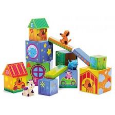 Образователни кубчета и животни Djeco -1