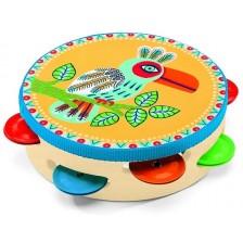 Детски музикален инструмент Djeco - Дайре Animambo, от дърво -1