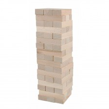 Балансна кула Дженга Woody - Натурална -1