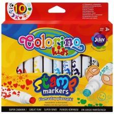 Цветни печати Colorino Kids - във вид на маркери -1