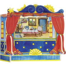 Дървена игра Goki - Куклен театър -1
