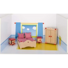 Детска дървена къща Goki - Спалня -1