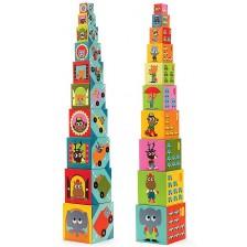 Пирамида от кубчета Djeco - Превозни средства -1
