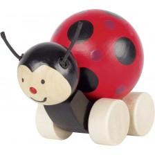 Дървена играчка за бутане Goki - Калинка