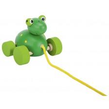 Дървена играчка за дърпане Goki - Жаба