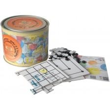 Детска игра 2 в 1 Bright Toys Подреди Копчетата! - Дама и 5 подред -1