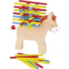 Дървена игра за балансиране Goki - Магаре -1