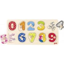 Дървен пъзел Goki - Научи се да броиш -1
