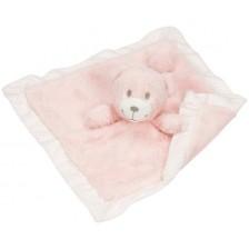 Мече за гушкане Goki - Розово, тип одеяло -1