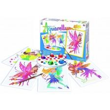 Комплект за оцветяване с акварелни бои Sentosphere Aquarellum Junior - Феи -1