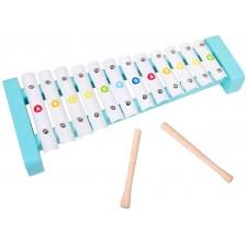 Дървена играчка Classic World - Ксилофон с букви -1