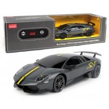 Радиоуправляема количка Rastar - Lamborghini Murcielago LP670-4, 1:24, графит -1