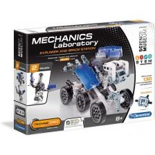 Конструктор Clementoni Mechanics Laboratory - Космическа станция, 130 части -1