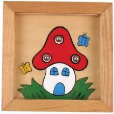 Дървена игра за сръчност с топчета Pino - Къща -1