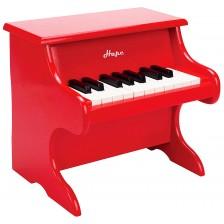 Детски музикален инструмент Hape - Пиано, червено, от дърво -1