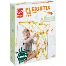 Конструктор от бамбукови пръчки Hape Flexistix - Кран -1