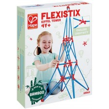 Конструктор от бамбукови пръчки Hape Flexistix - Айфеловата кула -1