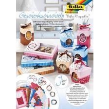 Творчески комплект за изработка на кутийки за подаръци и съхранение Folia - 40 части -1