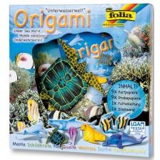 Творчески комплект за оригами Folia - Животински свят, подводен свят -1