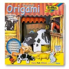 Творчески комплект за оригами Folia - Животински свят, ферма -1