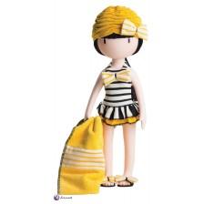 Комплект дрехи за кукла Paola Reina Gorjuss - Бански и плажна кърпа, 32 cm -1