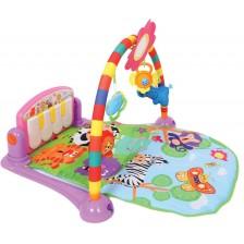 Активна гимнастика Lorelli Toys - Пиано, 92 х 60 cm, розова -1