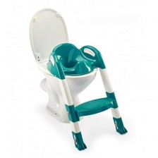 Адаптор за тоалетна чиния Thermobaby Kiddyloo - Сгъваем, със стълба, Deep Peacock -1