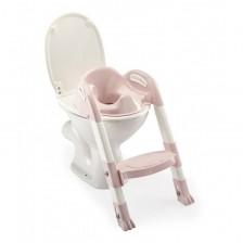 Адаптор за тоалетна чиния Thermobaby Kiddyloo - Сгъваем, със стълба, Powder Pink -1