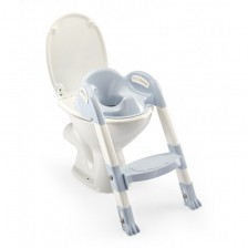 Адаптор за тоалетна чиния Thermobaby Kiddyloo - Сгъваем, със стълба, Baby Blue -1