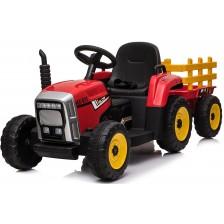 Акумулаторен трактор с ремарке Chipolino - Червен -1