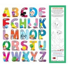 Магнитни букви (английска азбука). За писане, срички и думи