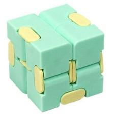 Антистрес играчка Poppit Fidget Infinity - Кубче, светло зелено -1